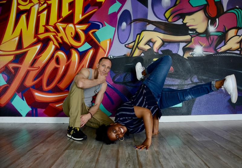 School of Breaking Owners Bboy Chase Em' Down & Bgirl Tweezy